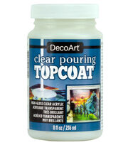 DecoArt Clear Poring Top Coat-8 oz., , hi-res