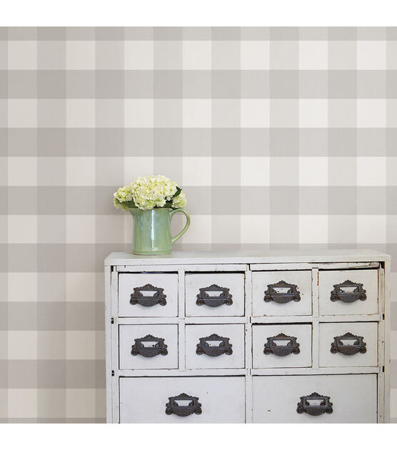 Wallpops Peel Stick Wallpaper Farmhouse Plaid Joann