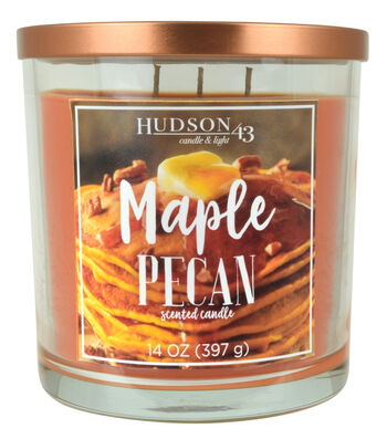 Hudson 43 Candle & Light 14 oz. Maple Pecan Scented Jar Candle