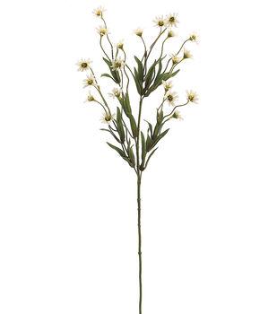 "Bloom Room 29"" Wild Daisy Spray x5 with 20 Flw.&13 Sets of Lvs.-Vanilla"