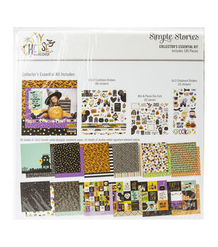 Simple Stories Collector's Essential Kit 12''X12''-Say Cheese Halloween
