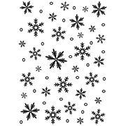 Darice Embossing Folder Background Snowflake, , hi-res