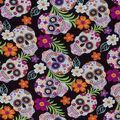 Novelty Cotton Fabric-Tropical Sugar Skulls
