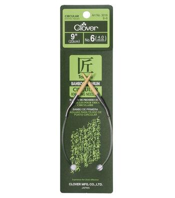 "Bamboo Circular Knitting Needles 9""-Size 6"