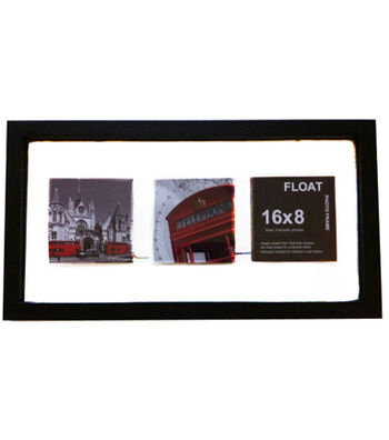 Wood Float Photo Frame 8''x16''-Black