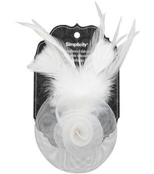 Hair Acc Fascinator White