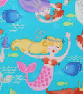 Novelty Cotton Fabric-Dancing Mermaids