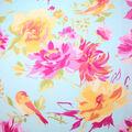 No Sew Fleece Throw Kit 72\u0027\u0027-Painted Bird & Flowers