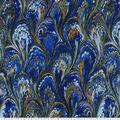 Premium Wide Cotton Fabric-Purple & Blue Oil Slick