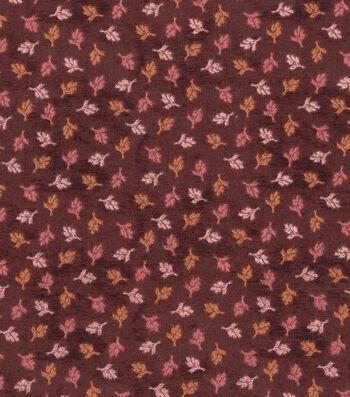 Harvest Cotton Fabric-Mini Tossed Wheat on Burgundy
