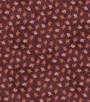 Harvest Cotton Fabric-Mini Tossed Wheat on Burgundy