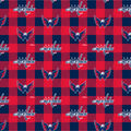 Washington Capitals Fleece Fabric-Buffalo Plaid