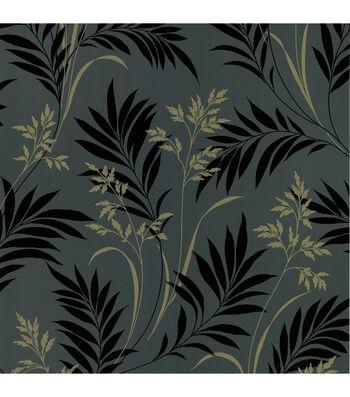 Midori Black Bamboo Silhouette Wallpaper