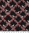 Christmas Cotton Fabric 43\u0022-Cardinal Berries Plaid