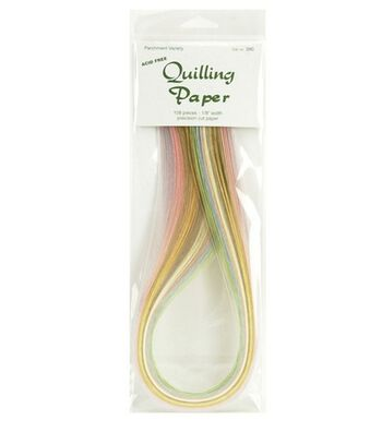 "Lake City Crafts 1/8"" Quilling Paper Packs-108PK/Parchment"