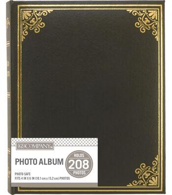 K&Company Black Library 2 Up Basic Photo Album
