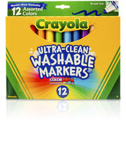 Crayola Broad Line Washable Markers-12PK, , hi-res
