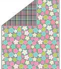 No Sew Fleece Throw 72\u0022-Icing Floral