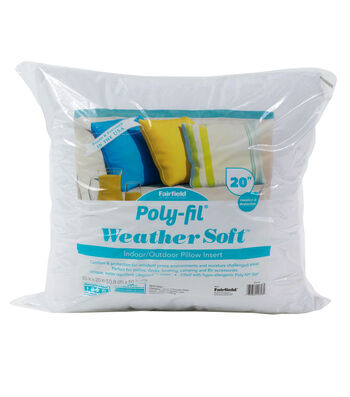 "Poly-Fil Weather Soft Indoor/Outdoor 20""x20"" Pillow Insert"