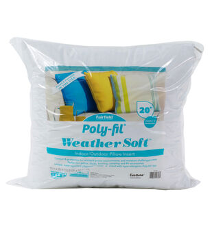 """Poly-Fil Weather Soft Indoor/Outdoor 20""""x20"""" Pillow Insert"""