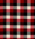 Snuggle Flannel Fabric-Red & Black Buffalo Checks