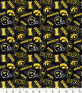 University of Iowa Hawkeyes Cotton Fabric-Tone on Tone