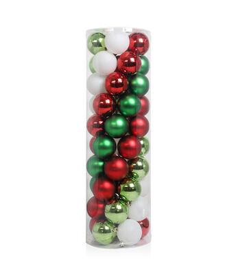 Maker's Holiday Christmas Whimsy Workshop 50 pk Shatterproof Ornaments