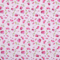 Valentine\u0027s Day Print Fabric -Pink with Hearts & Roses