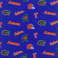 University of Florida Gators Cotton Fabric -Blue