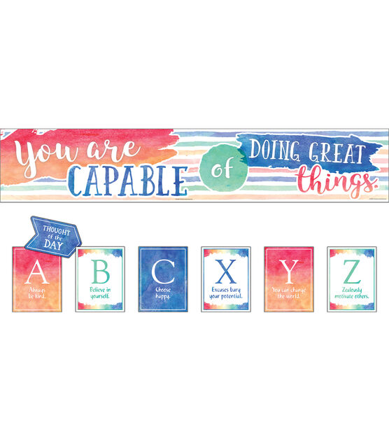 You Are Capable of Doing Great Things Bulletin Board Set, , hi-res, image 1