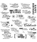 Fiskars Quotes Clear Stamps Make A Wish