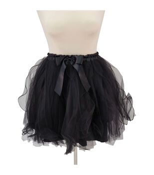 Maker's Halloween Adult Short Tutu-Black