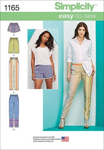 Simplicity Pattern 1165R5 14-16-18-2-Skirts & Pants