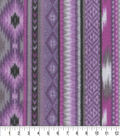 Anti-Pill Fleece Fabric 59\u0022-Orchid Aztec Stripe