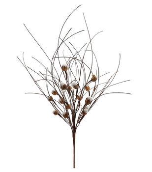Blooming Autumn 26'' Cotton Pod Bush-Beige & Brown