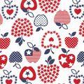 Holiday Inspirations Patriotic Fabric- Patriotic Apples