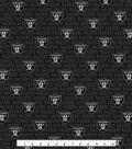 Oakland Raiders Cotton Fabric -Mini Print