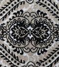 Casa Embellish Sequin Fabric 51\u0022-Gold & Black