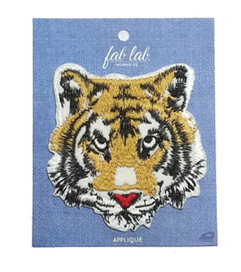 Fab Lab 4.87''x3.87'' Tiger Iron-on Applique Patch