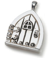 Darice Fairy Door Metal Charm 1/Pkg-Antique Silver, , hi-res