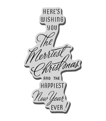 Stampendous Christmas Cling Rubber Stamp-Merriest Wish