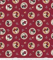 Minnie Mouse Fleece Fabric-Badge Toss, , hi-res