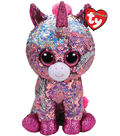 Ty Inc. Flippables Medium Sequin Sparkle Unicorn-Pink