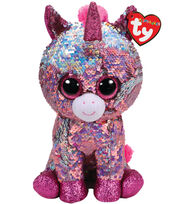 Ty Inc. Flippables Medium Sequin Sparkle Unicorn-Pink, , hi-res