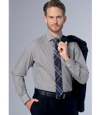 Vogue Pattern V9220 Men's Standard, Tailored/Slim Fit Shirts-Size 34-40