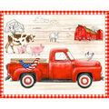 1 Yard Fabric Panel-Red Truck
