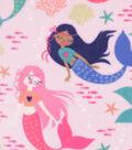 Anti-Pill Plush Fleece Fabric 58\u0022-Peaceful Mermaids