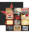 Movie Night Double-Sided Cardstock 12\u0022X12\u0022-Movie Night