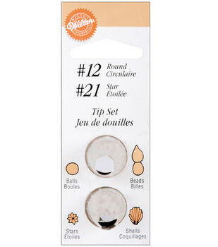 Decorating Tip Set 2PK-#12 Round/#21 Star