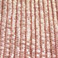 Casa Embellish Pleated Fabric-Peach Blush Sequin